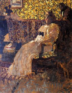 Edouard Vuillard, Woman Seated in a Chair   (1896)  Private collection