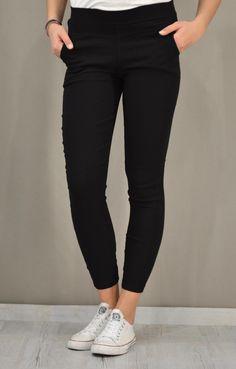 Γυναικείο παντελόνι leggings | Γυναίκα - Παντελόνια - Κολαν | Black Jeans, Pants, Fashion, Trouser Pants, Moda, Fashion Styles, Black Denim Jeans, Women's Pants, Women Pants