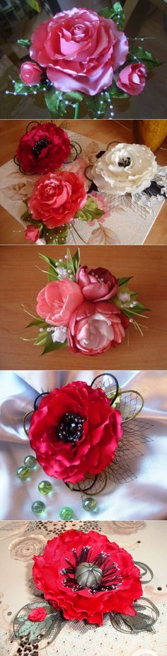 The magic of silk flowers / Other needlework / Fabric flowers