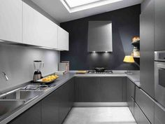 Cocinas Modernas Color Gris