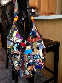 Hobo Style Bag Bohemian Upcycled Fabric by RirisCreativeHands, $26.00