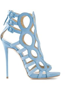Giuseppe Zanotti, Strappy sandal in light blue | sky blue shoes with <3 from JDzigner www.jdzigner.com