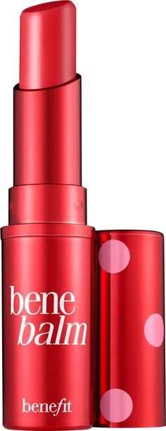 Benefit Hydrating Tinted Lip Balm. It s tinted love Benebalm conditions & hydrates with mango butter and sodium hyaluronate. This rose tinted kiss of sheer, buildable color gives you the softest, sexiest lips. Glide on bare lips or over your favorite tint. #Beauty #Makeup #Obsessory #Fashion #Cute