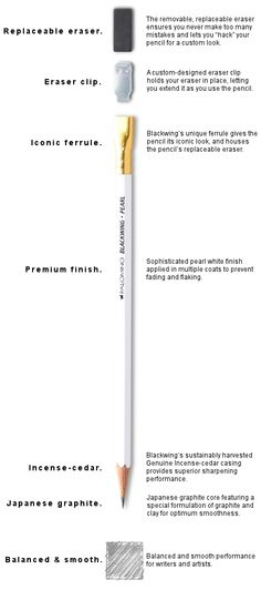 pencil | the story of a pencil that won't disappoint your writing experience. Pearl 602 Blackwing Pencil - Palamino