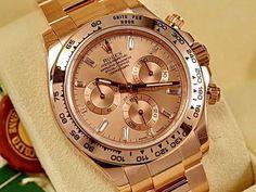 永生名錶珠寶交流中心-ROLEX 勞力士 Daytona 迪通拿 116505 鑽石時標 永恆玫瑰金材質 2014年最新款 錶友珍藏新品 40mm (B):