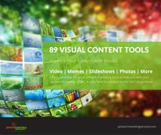 89 Visual Content Creation Tools for Content Marketing