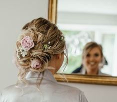 Boho up do with Fresh Flowers Wedding Hairdressers, Tangled Wedding, Civil Ceremony, Bride Hairstyles, Fashion Company, On Your Wedding Day, Fresh Flowers, Bridal Hair, Bridesmaid