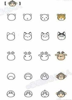 Cute easy drawings of animals best easy animal drawings ideas on easy cute baby animals to . cute easy drawings of animals Easy Animal Drawings, Mini Drawings, Cute Easy Drawings, Kawaii Drawings, Doodle Drawings, Doodle Art, Drawing Animals, Doodle Ideas, Easy Drawing For Kids