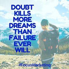 """Doubt kills more dreams than failure ever will  #dream #dreamcatcher #winner #directsales #FocusNZ #FocusMarketing #Focusteam #FocusGroup #digitalmarketing #b2bsales #believeinyourself #kiosk #together #weconnect #weareteam #achivement #NewZealand #nevergiveup #Finish #Future #sales #Success #Ultimate #ddd #businessthunders #spartans #dragons #shootingstars #timetravellers #Fenix"" by @focusmarketing.nz. • • • • • #digitalmarketing #onlinemarketing #marketing #branding #socialmediamarketing…"