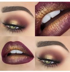 Gold and maroon look