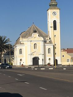 Church in Swakopmund, Namibia Notre Dame, Building, Travel, Viajes, Buildings, Trips, Traveling, Tourism, Architectural Engineering