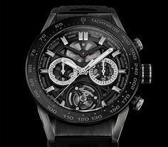 We must take: a flying tourbillon chronograph TAG Heuer