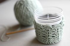 Crocheted votive cover  pattern on Ravelry