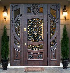 door Main Entrance Door, Door Entryway, Entrance Gates, Entry Doors, Main Door Design, Front Door Design, Gate Design, Mansion Interior, Interior Exterior