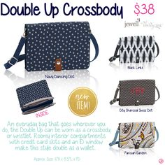 Double Up Crossbody by Thirty-One. Fall/Winter 2015.