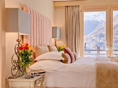 Open the curtains, let people see whats beyond.  Mountain chalet with magnificent views