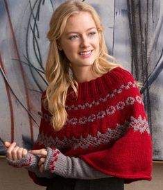 Yarnspirations is the spot to find countless free intermediate knit patterns, including the Red Heart Fair Isle Poncho & Arm Warmers. Browse our large free collection of patterns & get crafting today! Free Knitting Patterns For Women, Poncho Knitting Patterns, Cardigan Pattern, Knitted Poncho, Knit Patterns, Crochet Arm Warmers, Knit Crochet, Fair Isle Knitting, Easy Knitting