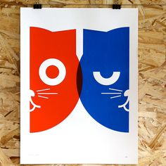 Dueling Watson the Cat Poster, $24