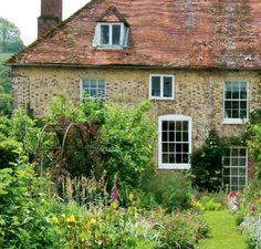 English cottage garden in Hampshire