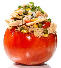 Tomato Stuffed With Tuna, Capers, Basil and Pine Nuts #recipe
