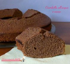 Ciambella all'acqua al cacao