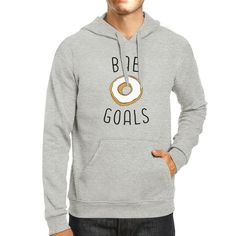 Bae Goals Unisex Gray Cute Graphic Hoodie Gift Idea For Food Lover
