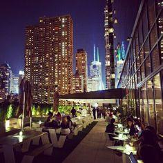 @danimaumau #YOTELNYC #NYC #Night #Skyline #City #Terrace #Rooftop #Lights #CityLights