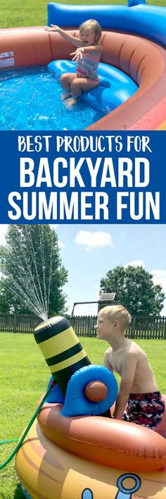 summer fun for kids in your own backyard! check out our favorite products for some good old fashioned backyard summer fun! Outdoor Fun For Kids, Outdoor Activities For Kids, Summer Crafts For Kids, Creative Activities, Infant Activities, Summer Kids, Outdoor Crafts, Happy Summer, Business For Kids
