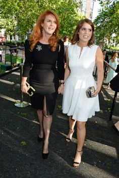 Sarah Ferguson and her daughter Princess Eugenie of York attend the Art Antiques London Gala Evening in aid of Children In Crisis at Kensington Gardens, 10.06.2014 in London, England.
