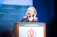 WORLD AIDS DAY - Hillary Clinton proposed a special intervention program for sex workers at the July 22-27 International Aids Conference in Washington. But a U.S. anti-prostitution oath and travel ban on sex workers contorts that mission.