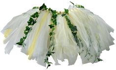 A no-sew tutu with vines. All I need is a little girl with an elfin side