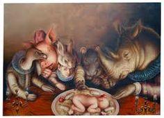 In titulo - Jose Luis Lopez Galvan Animal Rights Tattoo, Vegan Art, Save Nature, Vegan Humor, Childfree, Galvan, Vegan Animals, Freemasonry, Pop Surrealism