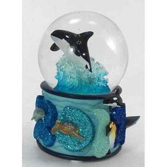 Sea World Snow Globe - 2012 Sea World Sea Life Logo  Jacob