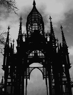skeletal gothic structure