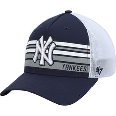Let your unwavering fandom for the New York Yankees be known as you rock this Altitude MVP adjustable hat from Baseball Fashion, Baseball Cap Outfit, Baseball Hats, Men's Hats, Knit Hats, Yankees Merchandise, Summer Swag Outfits, Yankees Gear, Cap Girl