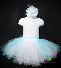 Elsa inspired tutu dress girls snowflake by LittleShopOfLostArts, $28.49