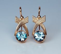 Hey, I found this really awesome Etsy listing at https://www.etsy.com/listing/254154213/russian-art-deco-aquamarine-and-gold