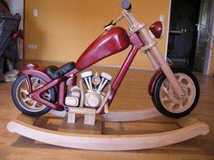 Wooden Motorcycle Rocker