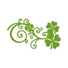 Silhouette Design Store: clover flourish