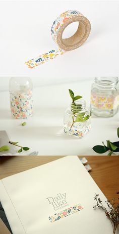 This floral masking tape makes decorating and DIY projects super easy! Best of all, its made out of paper, so it's super easy to tear…no scissors required!