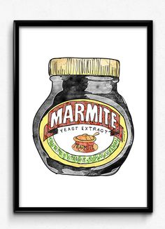 Marie Holdaway/ I am Marie vintage Marmite print. Decoupage Printables, Marmite, Juventus Logo, 6 Years, Illustration Art, Advertising, Graphic Design, Pop, Painting