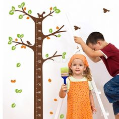 Nursery Height Chart Wall Sticker - Little Brown Tree; Free Shipping on orders over $50 australia wide