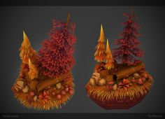 Autumn Forest Scene, Tim Moreels on ArtStation at https://www.artstation.com/artwork/autumn-forest-scene