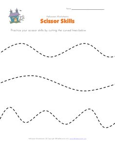 halloween scissor skills worksheet