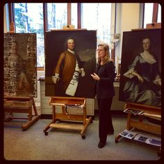 Our Paintings Conservator Shows #EarlyAmericanSouth Portraits at Various Stages of Conservation.