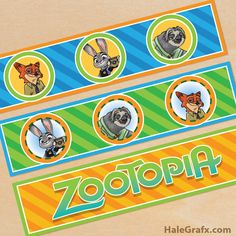 FREE printable Zootopia water bottle labels!