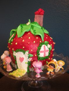 Strawberry Shortcake birthday cake I made for my niece...
