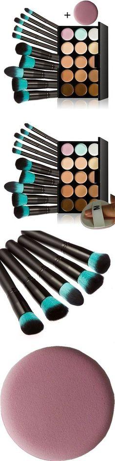 Beauty Makeup: Chinatera 15 Colors Contour Face Cream Makeup Concealer Palette With 10Pcs BUY IT NOW ONLY: $65.68