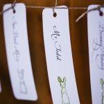 Wedding Name Card Idea for Vintage Bridal