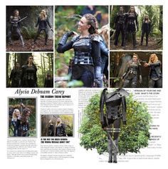 """Alycia Debnam Carey as Lexa Commander of the Woods Clan. { The 100 - 2x10 Survival of the Fittest }"" by albacampbell ❤ liked on Polyvore"